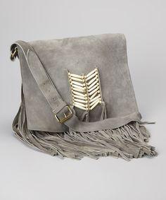 Boho Fringe Gray Bag