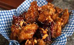 dakgangjeong (닭강정)  Crispy and crunchy Korean fried chicken
