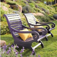 eggplant colored plantations chairs