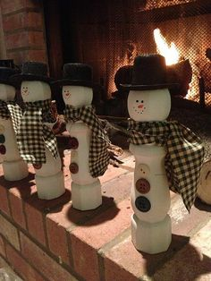 Wooden Snowman Decoration by KnLcrafts on Etsy, $15.00