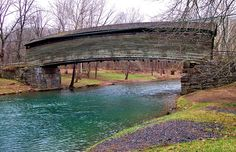 Virginia's oldest covered bridge...love this, reminds me of Bridges of Madison County.