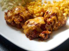 BBQ Cheddar Meatloaf Muffins