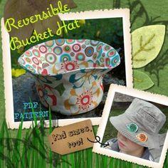 Reversible Bucket Hat - PDF PATTERN  Free??