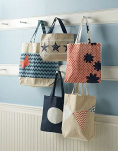These totes are perfect for any summer outing. DIY your own with #marthastewartcrafts stencils and craft paints, all available @Michaels Stores
