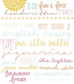 13 free handwriting fonts
