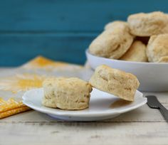 Southern Style Biscuits - An easy, light, fluffy, low calorie biscuits that is perfect for topping with jam, butter and honey.  I think these are the best biscuits ever!