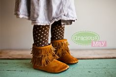 Suede Moccasin Girls Boots