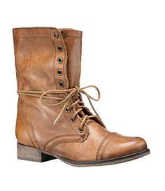 Steve Madden Troopa Military-Inspired Boots.