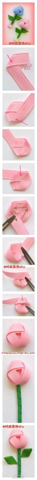Lovely shape children's hair accessories flower tutorial ~