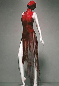 "Dress, ""Joan"" Fall 1998 - ""Alexander-McQueen: Savage Beauty"" at the Met by Winter Phoenix, via Flickr savage, alexandermcqueen, dress, savag beauti, alexander mcqueen 1999, the artist, beauty, alexand mcqueen, haute couture"