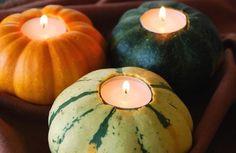 Mini Pumpkin / Squash tea Lights