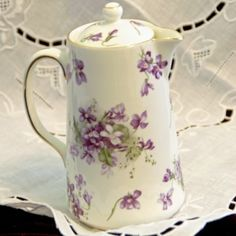 Hammersley Victorian Violets Syrup Pitcher victorian violet, violet syrup