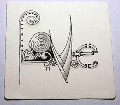 zentangled love - Create zentangled words?