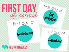 {free} first day of school printable