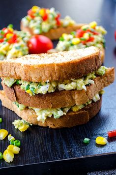 Avocado egg salad is