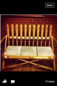 I must have this! Someone make it so! My bf plays in a league and this would be a perfect chair for his man-room.