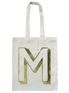 M - Gold | M | Letters | Alphabet Bags alphabet bag, letter, shops, gold, bags