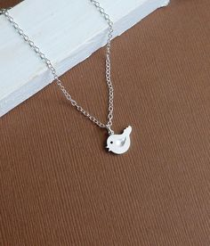 Li'l Chirping Bird -- 925 Sterling Silver Chain -- Silver Necklace. $18.00, via Etsy.
