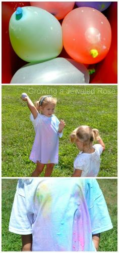 Water Balloon Paint War- SUPER Summer Fun - Pinned by @PediaStaff – Please Visit  ht.ly/63sNt for all our pediatric therapy pins