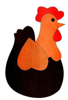 Appliqué pattern chicken
