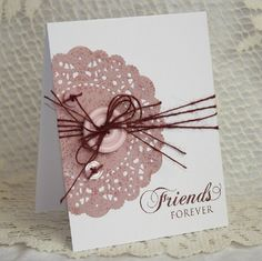 friendship doily card