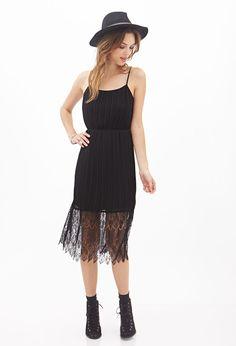 Pleated Lace Cami Dress #F21StatementPiece