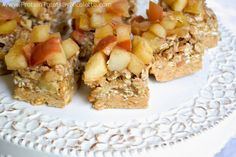 Apple Bars with Peanut Butter & Oats