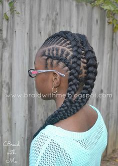 Absolutely gorgeous! Fishbone cornrows hairstyle. This mom has amazing braiding skills on her daughter's natural hair. A highly recommended blog for intricate and unique hairstyles.