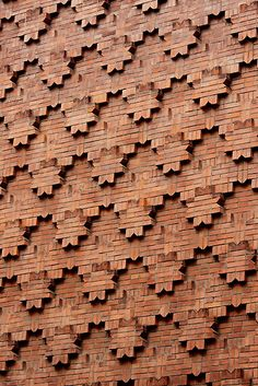 Brick Patterns on a Wall, Turin, Italy