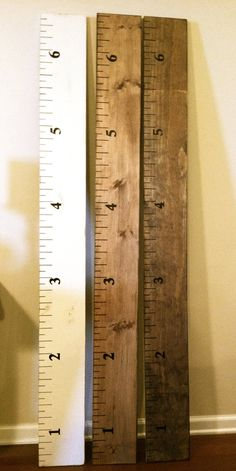Rustic Wood Growth Chart for Children.