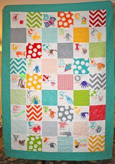 A to Z handprint quilt