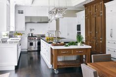 interior design, inspir island, boston magazin, interior inspir, contemporary kitchens, kitchen idea, kitchen interior, kitchen designs, allwhit kitchen