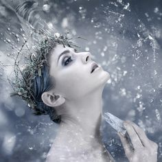 "500px / Photo ""Perish"" by Nicolas Henri snow queen, ice queen, winter, portrait photography, ice princess, queens, crown, fairi, snowqueen"