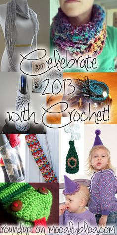 Happy New Year! Here are 10 free patterns to help you celebrate 2013! {mooglyblog.com}
