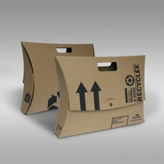Recycled Cardboard Briefcases - Customizable version