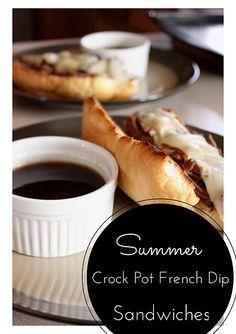 Summer Crock Pot French Dips on MyRecipeMagic.com