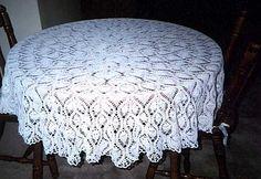 crochet pattern vintage wedding tablecloth | Online Crochet Patterns | Pineapple Tablecloth Crochet Pattern tablecloth