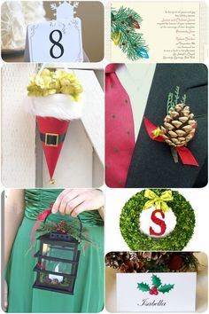 Holiday Wedding Details! Or cute ideas for all holiday parties!
