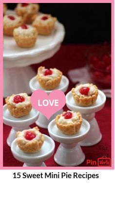 15 Sweet Mini Pie Recipes. There is no better thing in the world than a homemade pie filled with various fruits and spices! Pie is an old-fashioned dessert which is still popular even today, because no one can resist on a treat like this one.  Check them out at http://www.everycommerce.com/recipe/037%2015-Sweet-Mini-Pie-Recipes_f8je78h.htm
