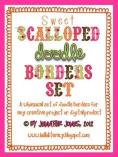 Sweet Scalloped Doodle Border Bundle (Set of 30)