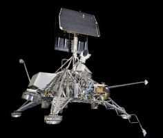 On June 2, 1966, Surveyor 1 became the first U.S. spacecraft to make a soft landing on the Moon. This engineering model, S-10, was used for thermal control tests. It represents a flight model of Surveyor 3 or later. technolog boner, space tech