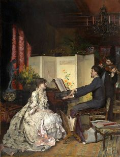 Petit Concert (1883) by Pascal Dagnan-Bouveret (French,1852-1929). Oil on canvas.