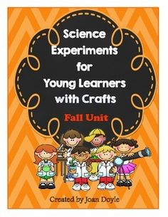 """You will """"Fall"""" in love with the science experiments and crafts in this unit.  These fun hands-on projects will bring the exciting world of science to life for even the youngest learners. The experiments are easy to set up, conduct, and understand.  The recording sheets are great to use for science interactive journals or notebooks.  This unit will bring out the little scientist in everyone.  Enjoy!"""