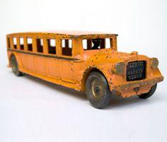 Antique Cast Iron Arcade Fageol Safety Coach