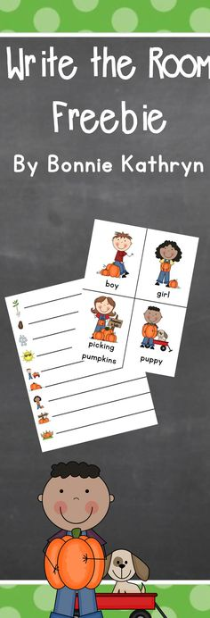 Enjoy this pumpkin write the room freebie!