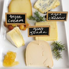 How to craft the perfect cheese plate on our blog: https://www.onekingslane.com/live-love-home/entertaining-ideas-from-cupcakes-and-cashmere/#