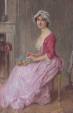 The Seamstress - Charles-Amable Lenoir (22 October 1860–1926)  French painter.