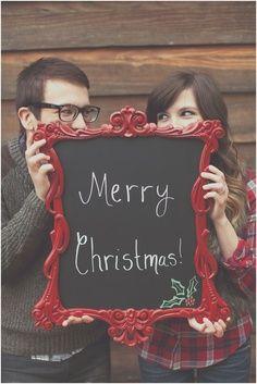 51 Romantic Couples Christmas Photo Ideas : Cute Christmas Couple Photo Ideas