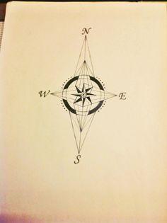 My new artworks - Geometric compass tattoo sketch. Wilson Aw