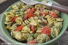 Creamy Spinach, Peas, & Pasta Salad
